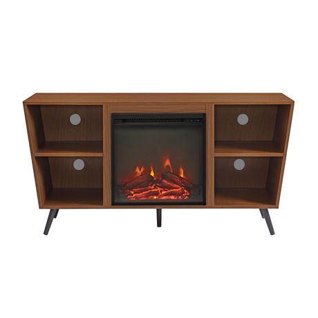 Manor Park Mid Century Modern Hairpin Fireplace Tv Stand Within 2017 Tv Stands With Led Lights In Multiple Finishes (View 9 of 15)