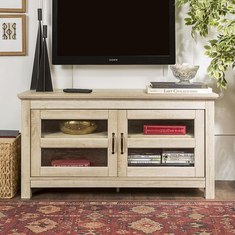 Manor Park Simple Wood Tv Stand For Tv'S Up To 48 Inside Favorite Tv Stands With Led Lights In Multiple Finishes (View 6 of 15)