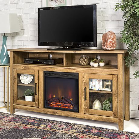 Manor Park Tall Rustic Fireplace Tv Stand For Tv'S Up To Pertaining To Preferred Rustic Tv Stands (View 1 of 15)
