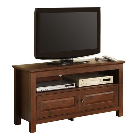 Manor Park Traditional Wood Tv Stand With Storage For Tv'S Inside Popular Tv Stands With Led Lights In Multiple Finishes (View 12 of 15)