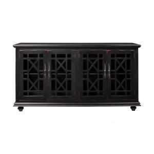 Martin Svensson Home Elegant Black Glass Tv Stand Fits Tvs Pertaining To Fashionable Martin Svensson Home Elegant Tv Stands In Multiple Finishes (View 3 of 15)