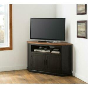 """Martin Svensson Home Rustic Corner 50"""" Wood Tv Stand Inside Fashionable Industrial Corner Tv Stands (View 14 of 15)"""