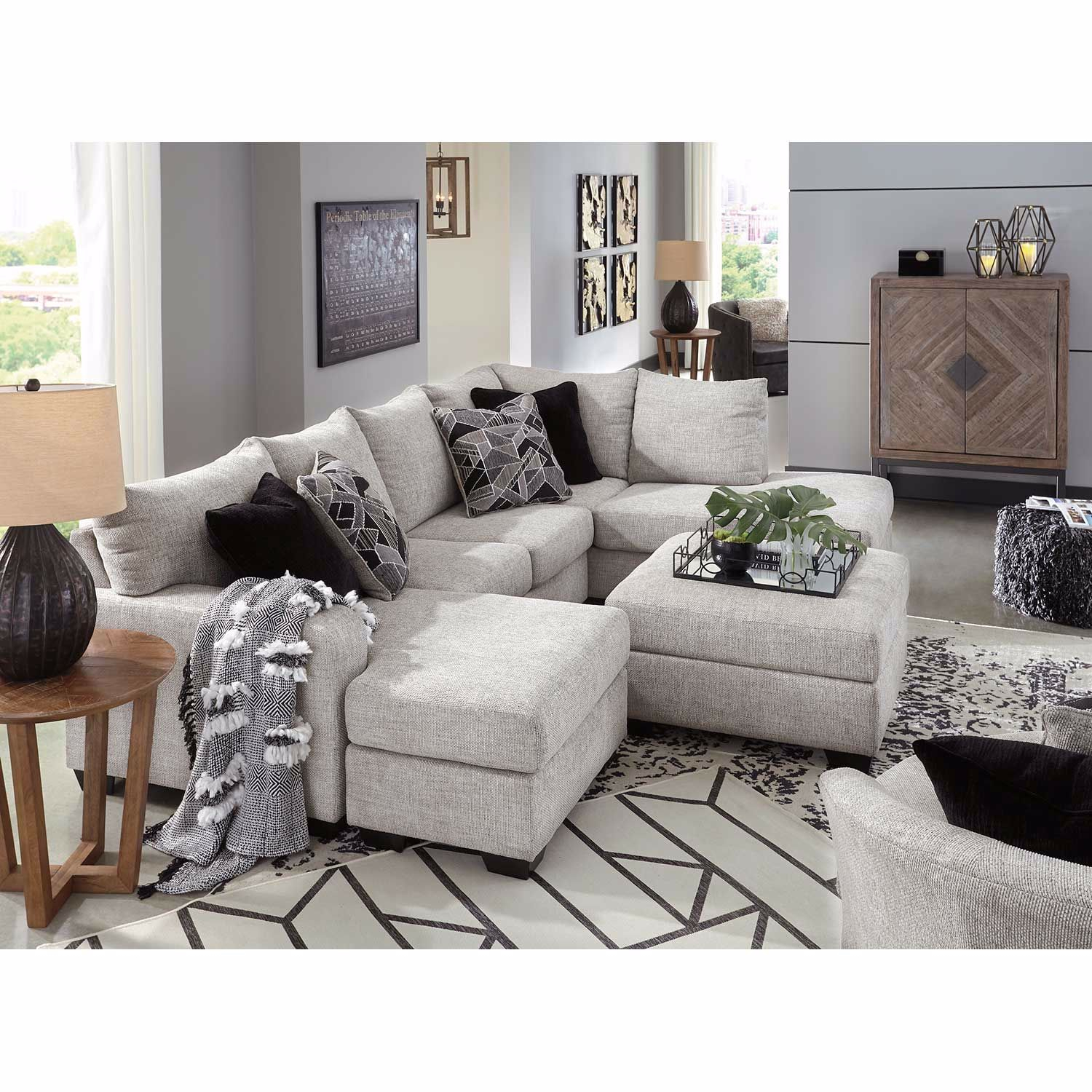 Megginson 2 Piece Sectional With Laf Chaise 9600616/03 For Delano 2 Piece Sectionals With Laf Oversized Chaise (View 14 of 15)