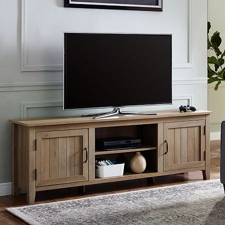 """Modern Farmhouse 70"""" Wood Tv Stand In  (View 6 of 15)"""