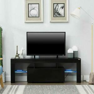 """Modern High Gloss Tv Stand Cabinet Console Unit Furniture Throughout Most Current 47"""" Tv Stands High Gloss Tv Cabinet With 2 Drawers (View 5 of 15)"""