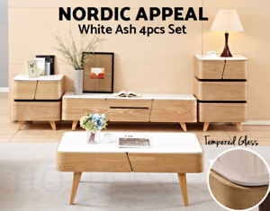 Modern Tv Stand Entertainment Unit Coffee Table Drawer Within Recent Alden Design Wooden Tv Stands With Storage Cabinet Espresso (View 4 of 15)