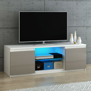 Modern Tv Unit Stand Cabinet High Gloss Door And Matt Body Throughout Well Known Zimtown Tv Stands With High Gloss Led Lights (View 1 of 15)