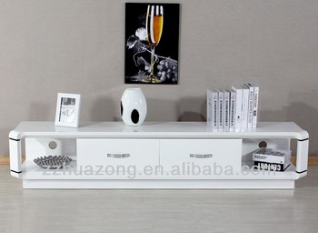 Modern White High Gloss Mdf Tv Stand With Curved Root For Popular White High Gloss Tv Stands (View 13 of 15)