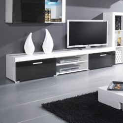 Most Current Bromley Black Wide Tv Stands With Regard To Bmf Samba 1 Tv Stand 200Cm Wide Black White High Gloss (View 14 of 15)