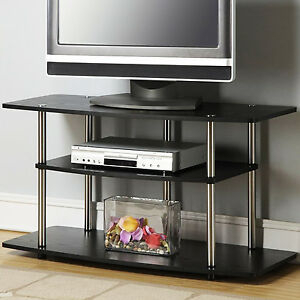 Most Current Bromley Black Wide Tv Stands Within Wide Tv Stand Black For 42In Lcd Or Plasma Flat Screen Dvd (View 12 of 15)