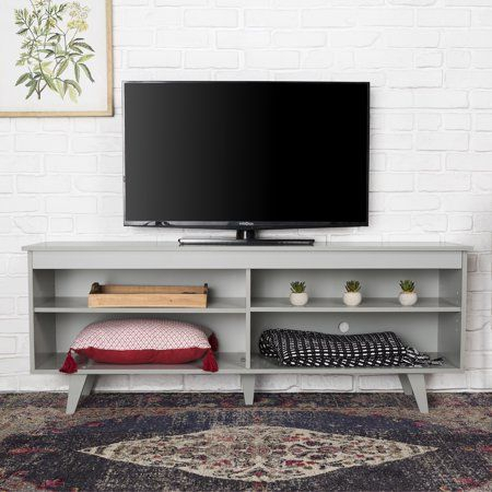 Most Current Delphi Grey Tv Stands Pertaining To Selene Angled Leg Grey Tv Standbellamy Studios (View 9 of 15)