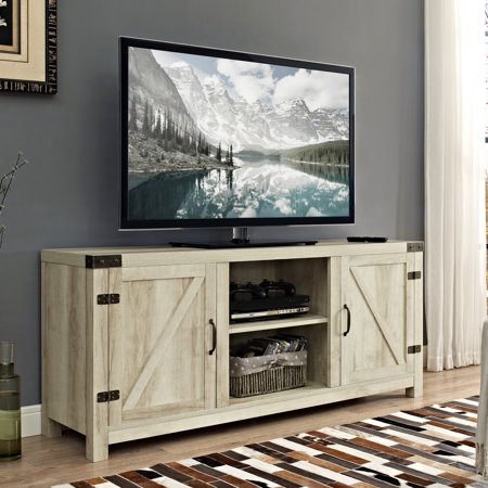 """Most Current Enclosed Tv Cabinets With Doors Pertaining To 58"""" Barn Door Tv Stand With Side Doors For Tvs Up To  (View 1 of 15)"""