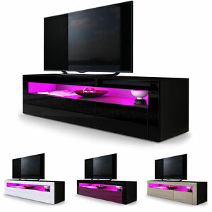 Most Current Hannu Tv Media Unit White Stands Pertaining To Black High Gloss Modern Tv Stand Unit Media Entertainment (View 12 of 15)