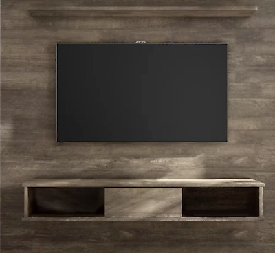 Most Current Hannu Tv Media Unit White Stands Within Floating Entertainment Center Rustic Wall Unit Mount Media (View 7 of 15)