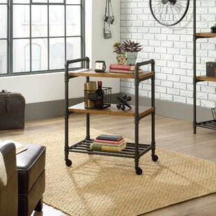 Most Current Modern Mobile Rolling Tv Stands With Metal Shelf Black Finish Within Black Bar Carts You'Ll Love In  (View 3 of 15)