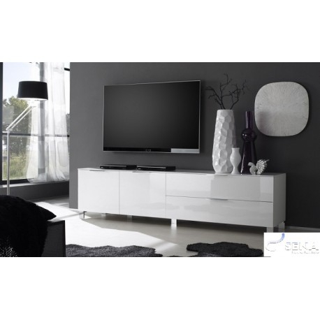 Most Current Modern White Gloss Tv Stands Regarding Solo I High Gloss Tv Stand Assembled – Tv Stands ( (View 4 of 15)