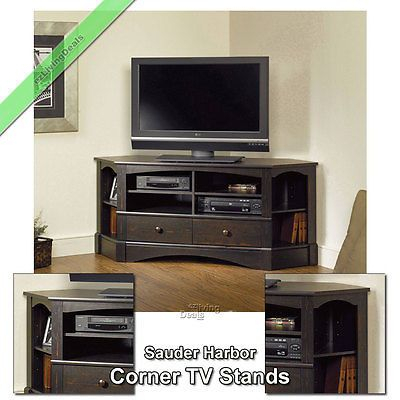 Most Current Tv Stands For Corners Throughout Sauder Corner Tv Stand 60 034 Console Table Stands For (View 3 of 15)