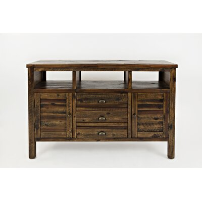 Most Popular Boahaus Dakota Tv Stands With 7 Open Shelves Throughout Birch Lane™ Leija Solid Wood Tv Stand For Tvs Up To  (View 1 of 15)