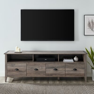 """Most Popular Bustillos Tv Stands For Tvs Up To 85"""" Pertaining To Industrial Lodge Home Hedy Tv Stand For Tvs Up To  (View 15 of 15)"""