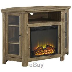 Most Popular Fireplace Media Console Tv Stands With Weathered Finish Regarding Electric Fireplace Corner 55 Tv Stand Media Console (View 10 of 15)
