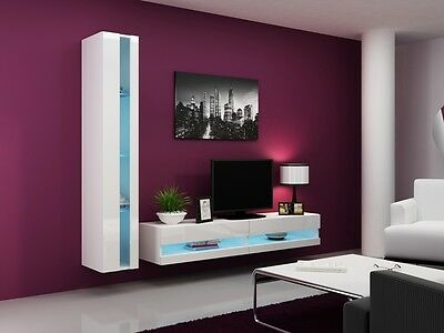 Most Popular High Gloss Tv Cabinets Pertaining To High Gloss Tv Cabinet / Tv Wall Unit / Tv Stand 'Viva New (View 14 of 15)