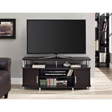 """Most Popular Mainstays 3 Door Tv Stands Console In Multiple Colors Regarding Carson Tv Stand, For Tvs Up To 50"""", Multiple Finishes (View 1 of 15)"""