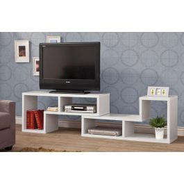Most Popular Milano White Tv Stands With Led Lights Pertaining To Elements White Tv Stand Display (View 1 of 15)