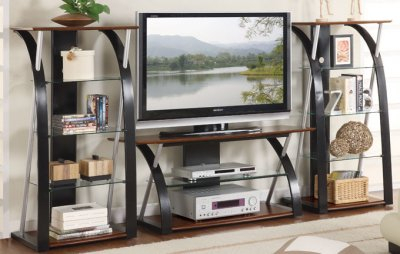Most Popular Modern Black Floor Glass Tv Stands With Mount Regarding Modern Tv Stand With Decorative Shelves ~ Home Interior (View 13 of 15)
