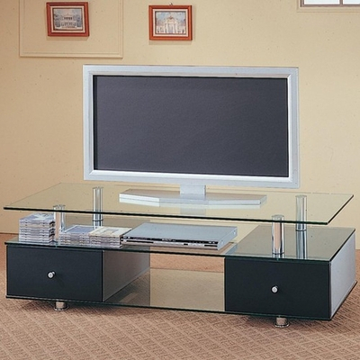 Most Popular Modern Black Tv Stands On Wheels Pertaining To Black Metal Tv Stand – Steal A Sofa Furniture Outlet Los (View 5 of 15)
