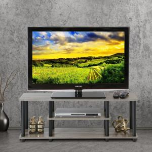 Most Popular Tv Stands For Tube Tvs With Furinno Turn N Tube Dark Brown And Black Shelved (View 11 of 15)