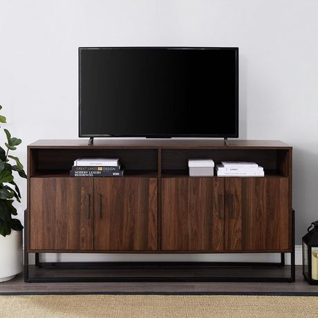 Most Popular Tv Stands With Led Lights In Multiple Finishes Within Manor Park Modern Industrial Tv Stand For Tv'S Up To  (View 10 of 15)