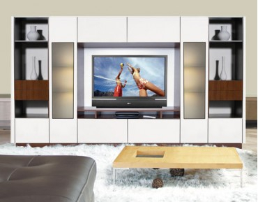 Most Recent High Glass Modern Entertainment Tv Stands For Living Room Bedroom Regarding Entertainment Centers, Victor Wall Unit Icon Furniture (View 9 of 15)