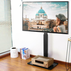 """Most Recent Jowers Tv Stands For Tvs Up To 65"""" Regarding Rfiver Universal Floor Corner Tv Stand With Swivel Mount (View 15 of 15)"""