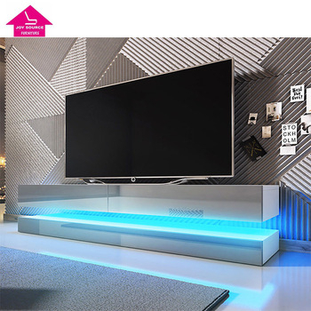 Most Recent Milano White Tv Stands With Led Lights Pertaining To Modern Led Light Tv Cabinet Wooden Tv Media Table Design (View 14 of 15)