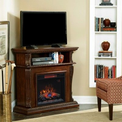 Most Recent Priya Corner Tv Stands Inside Classic Flame Corinth Wall/Corner Fireplace Tv Stand In (View 9 of 15)