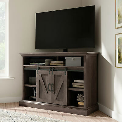 "Most Recent Techlink Bench Corner Tv Stands With Whalen Allston Barn Door Corner Tv Stand For 55"" Tvs (View 1 of 15)"