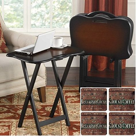 Most Recent Tv Stand Coffee Table Sets Within Snack Table Set And Coffee Cocoa Beverage Coaster Set (View 8 of 15)
