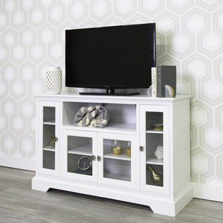 Most Recent Walker Edison Contemporary Tall Tv Stands With Regard To Walker Edison Highboy Style Wood Media Storage Tv Stand (View 3 of 15)