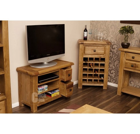Most Recently Released Coffee Tables And Tv Stands Matching In Danube Weathered Oak Compact Tv Stand (View 1 of 15)