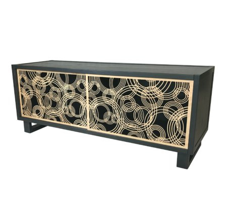 Most Recently Released Coffee Tables And Tv Stands Matching Throughout Water Drops Tv Stand / Credenza, Gray/Natural – Twist Modern (View 6 of 15)