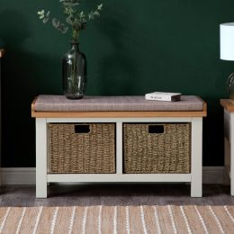 Most Recently Released Compton Ivory Corner Tv Stands With Baskets With Indoor Wicker Oak Furniture Sets (View 9 of 15)