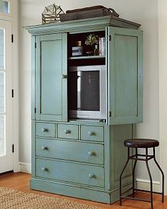 Most Recently Released Enclosed Tv Cabinets With Doors With Regard To Painted White Television Armoire – Google Search (View 10 of 15)