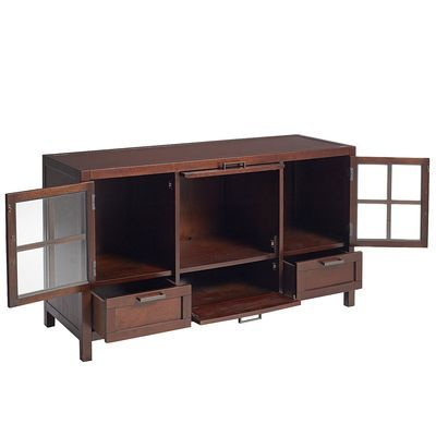 """Most Recently Released Mahogany Tv Stands For Mahogany Brown Modular 52"""" Tv Stand (View 7 of 15)"""