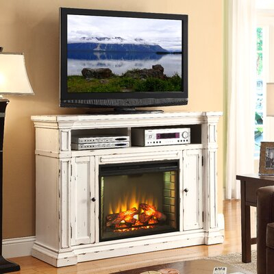 """Most Recently Released Rustic White Tv Stands With Regard To Legends Furniture New Castle 58"""" Tv Stand With Electric (View 9 of 15)"""