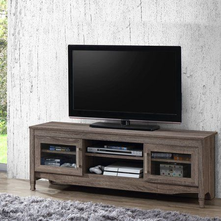 """Most Recently Released Techni Mobili 53"""" Driftwood Tv Stands In Grey Inside Techni Mobili 53"""" Driftwood Tv Stand For Tvs Up To  (View 1 of 15)"""