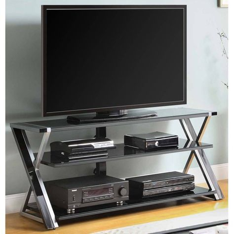 """Most Recently Released Whalen Furniture Black Tv Stands For 65"""" Flat Panel Tvs With Tempered Glass Shelves Pertaining To 14 Randy'S Living Room Ideas In  (View 5 of 15)"""