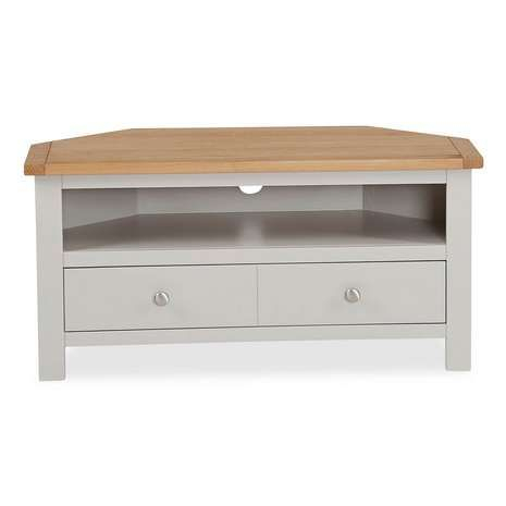 Most Up To Date Bromley Oak Tv Stands Regarding Constructed From Oak And Pine Wood With A Grey Visible (View 2 of 15)