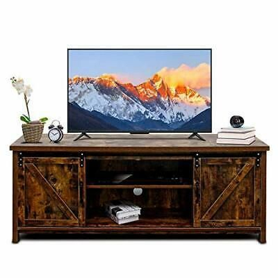Most Up To Date Compton Ivory Corner Tv Stands Intended For & Bizzoelife 60 Inch Barn Door Tv Stand Entertainment (View 9 of 15)