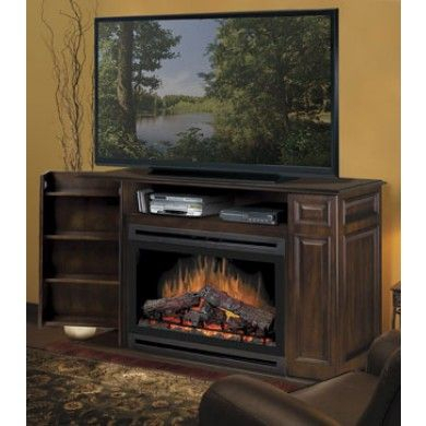 Most Up To Date Fireplace Media Console Tv Stands With Weathered Finish In Atwood Media Console – Walnut Finish Fireplace At: Http (View 4 of 15)