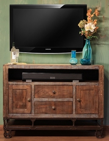 """Most Up To Date Modern Black Tv Stands On Wheels In Urban Gold 52"""" Tv Stand (View 8 of 15)"""